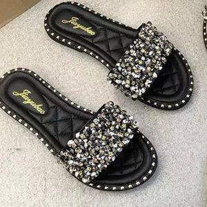 Shoes - 💎 Bedazzled Slides💎 Size 8 Last Pair